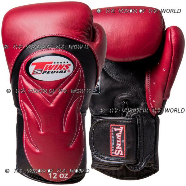 Gants Twins BGVL 6 muay thai kick boxing mma boxe anglaise boxe thai boxe pieds-poings bordeaux noir