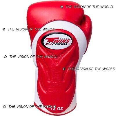 Gants Twins BGVL 6 muay thai kick boxing mma boxe anglaise boxe thai boxe pieds-poings red/white