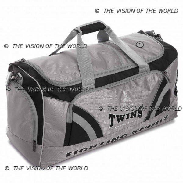 Sac de sport Twins BAG2 jaune, fitness boxe thai muay thai kick boxing mma gris