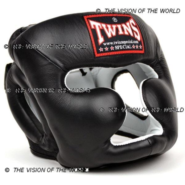 Casque de boxe Twins HGL3 un casque de sparring full face à barre indispensable aux boxeurs professionnels pour l'entraînement et le sparring