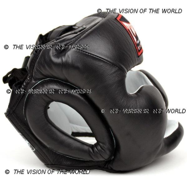 Casque de boxe Twins HGL3 un casque de sparring full face à barre indispensable aux boxeurs professionnels pour l'entraînement et le sparring profil