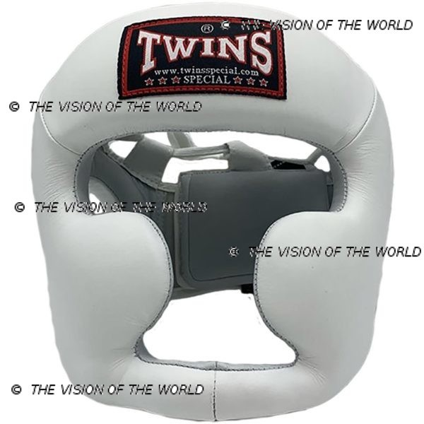 Casque de boxe Twins HGL3 blanc un casque de sparring full face à barre indispensable aux boxeurs professionnels pour l'entraînement et le sparring