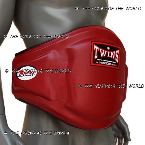 Ceinture de protection Twins BEPL3 coachs entraineur de boxe thai muay thai kick boxing Mma Boxe anglaise rouge