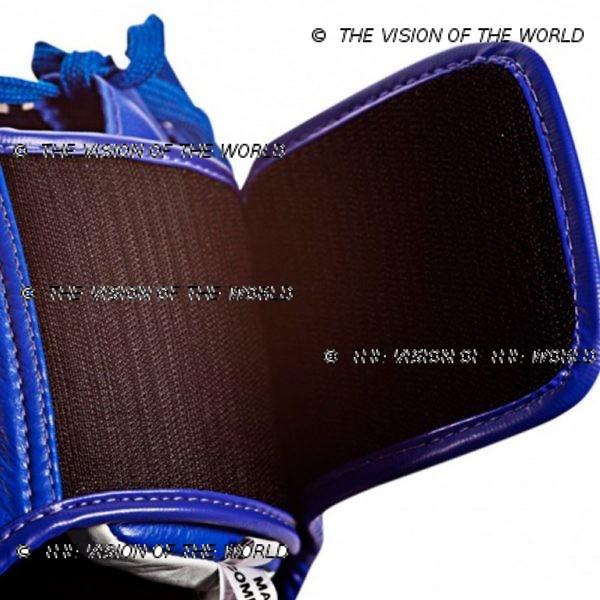 Casque de boxe Twins HGL3 bleu un casque de sparring full face à barre indispensable aux boxeurs professionnels pour l'entraînement et le sparring velcro