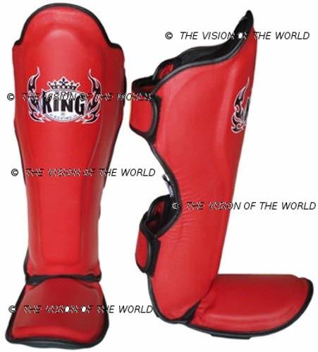Protège-tibia TopKing Cuir mma boxe thai kick boxing muay thai sports de combats