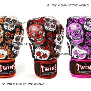Gants Twins Skulls muay thai kick boxing mma boxe anglaise boxe thai boxe pieds-poings
