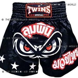 Twins short TBS black boxe thai muay thai kick boxing mma