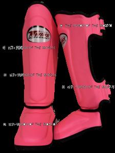 Protège-tibia Twins SGS10 rose foncé boxe thai muay thai kick boxing savate boxe française boxe pieds-poings